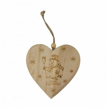 Κρεμαστή Ξυλ Καρδιά 11* 10. 5* 1cm