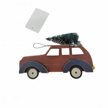 Στολίδι Δέντρου Αυτοκίνητο Ξυλ 16. 5* 3. 9* 9. 5cm