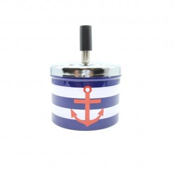 Τασάκι Αντιανεμικό Άγκυρα  Μεταλλικό 9x12