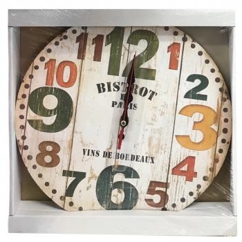 Ρολόι Τοίχου Mdf Διάφορα Σχέδια 30εκ