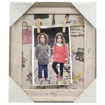 Κάδρο Φωτογραφιών Ξύλινο Με Μανταλάκια (1 Θέση) 22x25 Εκ.