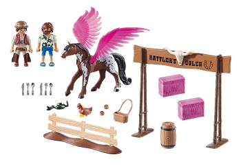 Playmobil The Movie: Marla and Del with Flying Horse (70074)