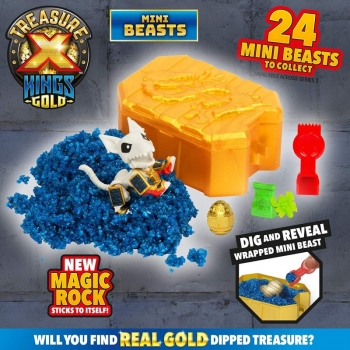 Treasure-X Σειρά 3 Kings Gold Μίνι Πλάσμα