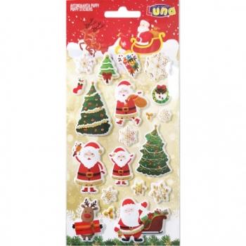 Αυτοκόλλητα Χριστουγεννιάτικα 10x22ek Puffy Glitter 6σχ