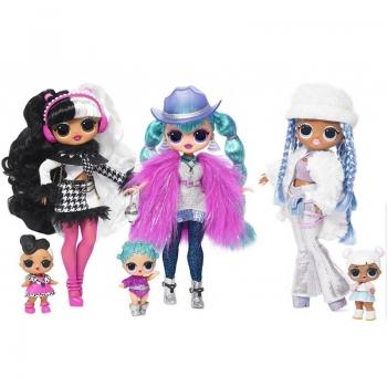 L.O.L. Surprise O.M.G. Winter Disco Κούκλα Και Αδελφούλα - 3 Σχέδια