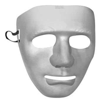 Αποκριάτικη Μάσκα Προσώπου Άσπρο - Μαύρο Ματ 19x17cm Διάφορα Σχέδια (3-2114)