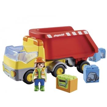 Playmobil Ανατρεπόμενο Φορτηγό με εργάτη