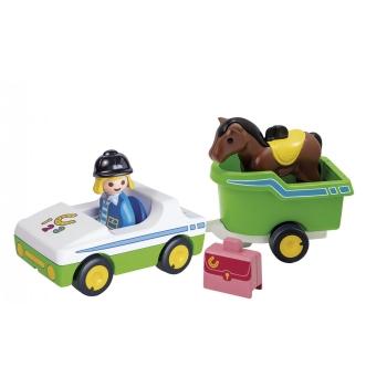 Playmobil Όχημα Με Τρέιλερ Μεταφοράς Αλόγου