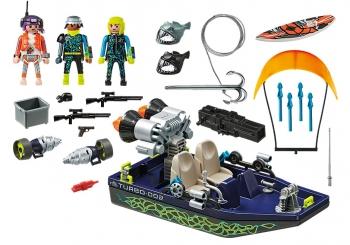 Playmobil Ταχύπλοο Σκάφος Της Shark Team