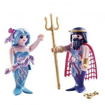 Playmobil Duo Pack Βασιλιάς Της Θάλασσας Και Γοργόνα