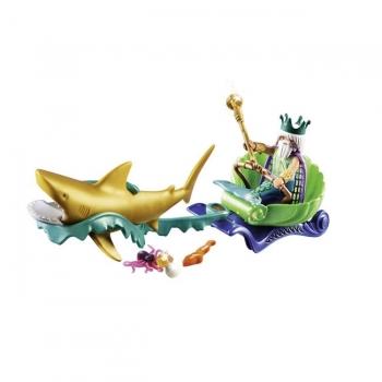 Playmobil Βασιλιάς Της Θάλασσας Με Άμαξα Καρχαρία
