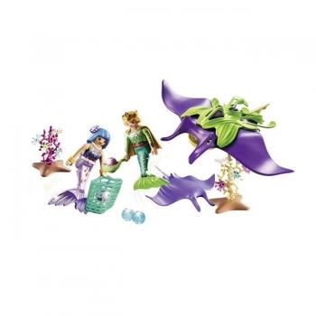 Playmobil Συλλέκτες Μαργαριταριών Με Γιγάντιο Σαλάχι Μάντα