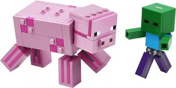 21157 Lego Minecraft BigFig Pig with Baby Zombie