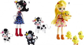 Enchantimals Κούκλα & Ζωάκια Φιλαράκια-2 Σχέδια