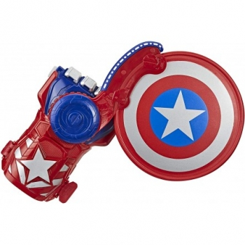 Hasbro Nerf Marvel Avengers Power Moves Role Play Captain America Ασπίδα Και Γάντι