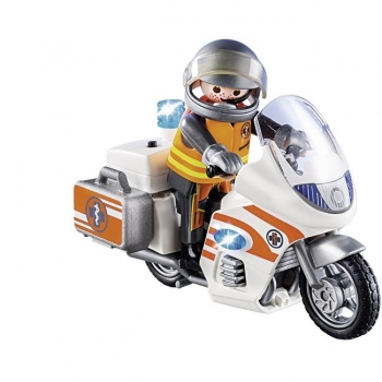 Playmobil Διασώστης Με Μοτοσικλέτα