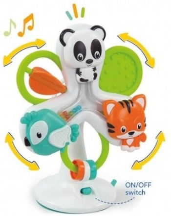 Baby Clementoni Βρεφικό Παιχνίδι Ζωάκια Στο Καρουζελ