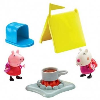 Peppa Pig Το Κάμπινγκ Της Πέππα Και Η Κουζίνα Της Πέππα - 2 Σχέδια Giochi Preziosi