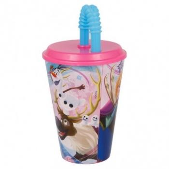 Disney Frozen Ποτήρι Με Καλαμάκι 430ml