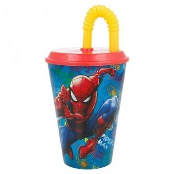 Marvel Spiderman Ποτήρι Με Καλαμάκι 430ml