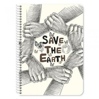 Τετράδιο Σπιράλ Α4 3Θ Earth Home - 90Φ 4 Σχέδια
