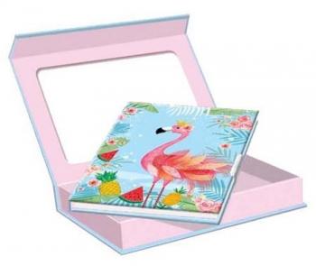 Ημερολόγιο Flamingo με Κλειδαριά & Μαγνητικό Κουτί 150x110