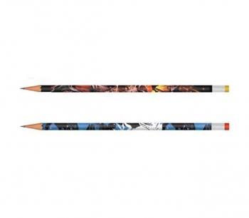 Μολύβι Στρογγυλό με Γόμα Jurassic World Διάφορα Σχέδια