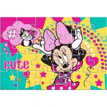 Παζλ Ζωγραφικής Minnie Mouse 2 Όψεων 24 Tεμ. - 41x28