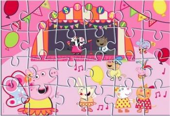 Παζλ Ζωγραφικής Peppa Pig 2 Όψεων 24 Tεμ. - 41x28