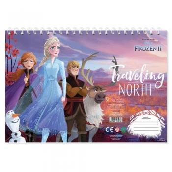 Μπλοκ Ζωγραφικής Frozen 2 23x33 - 40Φ & Αυτοκόλλητα Στένσιλ 2 Σχέδια