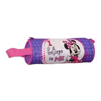 Σχολική Κασετίνα Βαρελάκι Στρόγγυλη Minnie - Mickey Mouse 20x7 4 Σχέδια
