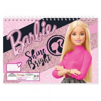 Μπλοκ Ζωγραφικής Barbie 23x33 - 40Φ & Αυτοκόλλητα Στένσιλ 2 Σχέδια