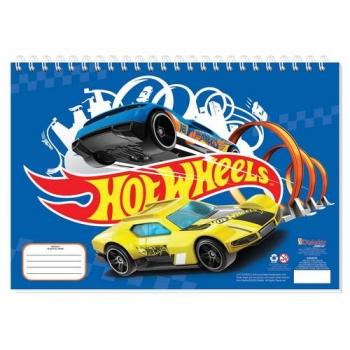 Μπλοκ Ζωγραφικής Hot Wheels 23x33 - 40Φ & Αυτοκόλλητα Στένσιλ 2 Σχέδια