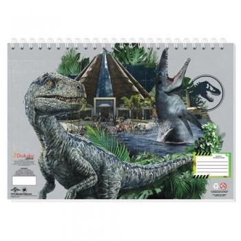 Μπλοκ Ζωγραφικής Jurassic Δεινόσαυροι 23x33 - 40Φ & Αυτοκόλλητα Στένσιλ 2 Σχέδια