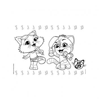 Μπλοκ Ζωγραφικής 44 Cats 23x33 -40Φ & Αυτοκόλλητα Στένσιλ 2 Σχέδια