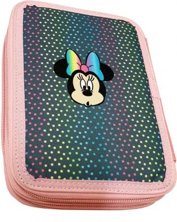 Σχολική Κασετίνα Διπλή Γεμάτη Minnie Mouse Pom Pom