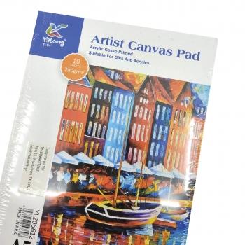 Μπλοκ Ακουαρέλλας Α5 Artist Canvas Pad Yalong - 10Φ 280g
