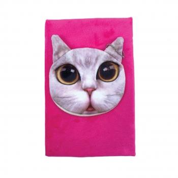 Μπλοκ Σημειώσεων Χνουδωτό με Γάτα Πορτοφόλι 21x14 Ass 4