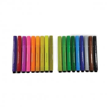 Μαρκαδόροι Ζωγραφικής Χοντροί Τριγωνικοί Water Color Pen Κασετίνα Yalong- 18 τμχ. 17x16 Ass