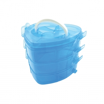 Κουτί Αποθήκευσης Πλαστικό Καρδιά 15x17 14 Θέσεων
