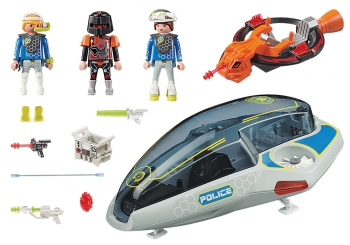 Playmobil Ιπτάμενο Όχημα Galaxy Police