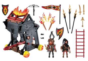 Playmobil Novelmore Πολιορκητική Μηχανή Φωτιάς Του Μπέρναμ