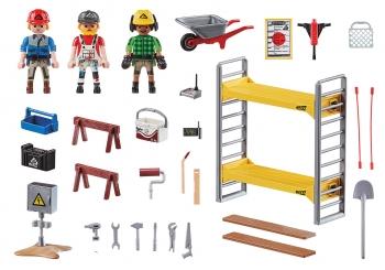 Playmobil City Action Εργάτες Με Σκαλωσιά