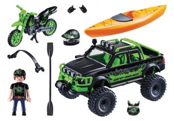 Playmobil Action Αγωνιστικό Αυτοκίνητο Και Μηχανή Ανωμάλου Εδάφους