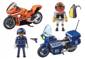 Playmobil City Action Αστυνομική Καταδίωξη Μηχανών