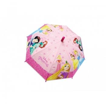 Disney Princess Ομπρέλα Παιδική Μονοκόμματη Απλή Με Άνοιγμα Ασφαλείας 38Cm Ροζ (3486)
