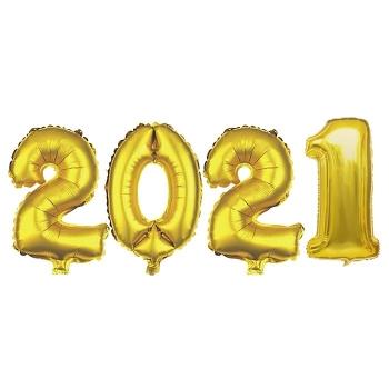 Μπαλόνι Χρονολογία Μεταλλιζέ 2021 Υ:81cm