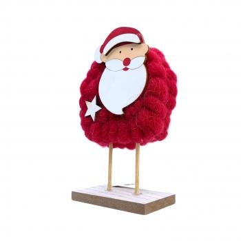 Χριστουγεννιάτικο Διακοσμητικό Άη Βασίλης Κόκκινο Μαλλί 16x10x4.5 εκ