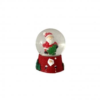 Χριστουγεννιάτικη Χιονόμπαλα Βάση Άη Βασίλης 6εκ 4Σχδ