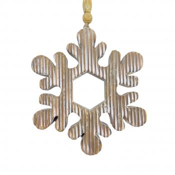 Χριστουγεννιάτικο Στολίδι  Ξύλινη  Νιφάδα 25 εκ
